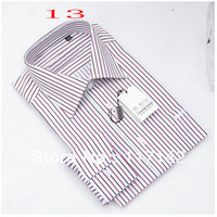 2013 Free Shipping Top Design Latest Style Men Dress Shirt Leisure Men's Long Sleeve Stripe Shirt