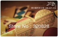 Wholesale 2.5CM Retro circle Sticker labels for Handmade Product valentine's decoration gift sticker 600pcs Free shipping