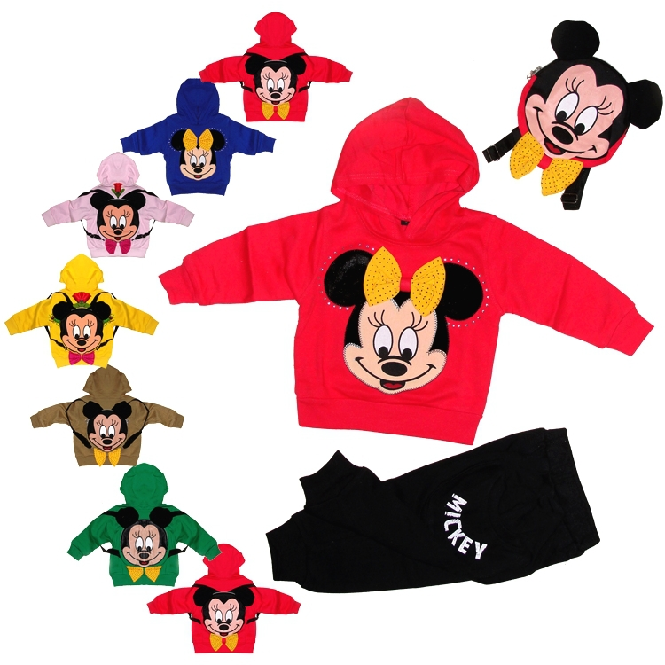 Brand children's wear and children cotton movement suite multicolor cartoon male. Female two piece set(China (Mainland))
