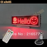 12V Red SMD led color mini advertising led car sign/taxi led message board/led desk graphics tablet