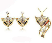 Star with fashion fox necklace earring jewelry set!