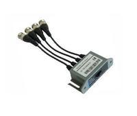 UTP 4 Ch Passive Video Balun Transceive 4 Channel CAT5 CCTV BNC Video Balun Transceiver Cable
