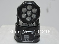 Mini LED moving head light with wash effect 7pcs*10W RGBW for dj disco & party 10pcs/lot Free shipping by Fedex