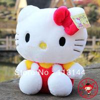free shipping 1pcs sitting height 20cm hello kitty plush toys hello kitty doll