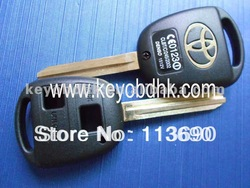 Toyota 2 button remote key blank with TOY43 &Toyota 2 buttons remote key shell(China (Mainland))