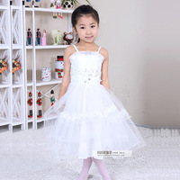 Flower girl formal dress princess dress female child wedding dress cake puff skirt child performance wear girls wedding dress 02