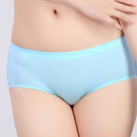 Solid color mid waist health comfortable senior modal seamless female trunk panty female panties 12 pcs/lot free shipping