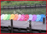 20pcs/lot free shipping random colors hand painted flower Chinese silk umbrellas