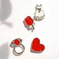 Zakka bestlove brooch accessories marriage pin 4 pcs set free air mail