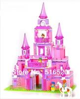 Sluban Pink Dream Series Princess Castle Building Block Sets 472pcs Enlighten Educational DIY Construction Brick toy M38-B0152