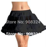 B Free Shipping Stock Short Petti Coat Sexy Fashion Women Crinoline Black Mini Tulle Skirt Ball Gown