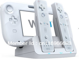 Brand New Dual Charge Dock station for Nintendo Wii U Gamepad and Wii remote(China (Mainland))