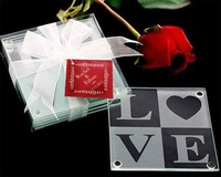Classic Love Coasters (Set of 2) for Wedding Decoration Party Favors Gifts Stuff Supplies Free Shipping Sale