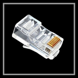 Free shipping New 100PCS/Lot RJ45 CAT5 Modular Plug Network Connector RJ-45 cable adapter(China (Mainland))
