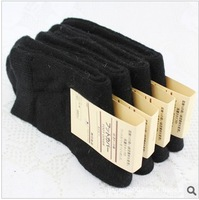 Free shipping Wholesale wool and Rabbit hair men socks ,black business/casual winter socks