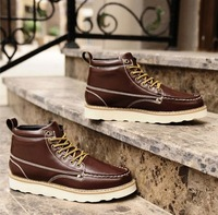 Free shipping Men's short boots fashion flat snow boots martin boots outdoor casual men's shoes DZ1502