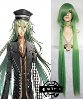 cosplay amnesia ukyo light green straight hair wigs cosplay party anime halloween wig