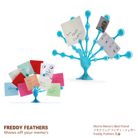 Feathers Peacock Style Memo Note Holder for Desktop  Plastic Peacock Memo Holder Office Label Card  Freddy