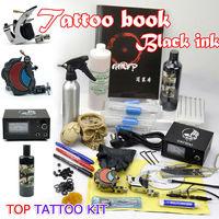 2PCS tattoo machine guns kit 50pcs needles one fashion book forartist tattoos set supply free shipping by DHL