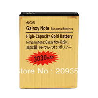 A+ Grade High Quality High Capacity 3030mAh Gold battery For Samsung Galaxy Note i9220 N7000 Shipping By DHL