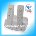 Free shipping for WII U gamepad and controller dual charger station with battery TYW-1218