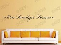Our Family Is Forever Removable Vinyl Wall Art Words Stickers DIY home Decoration Decals Quote Family Home Fashion Korea
