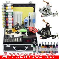 2 Guns Professional Tattoo Machine Kit 9 Colors 30ml Inks Power Tips needles Supply Tattoos set Equipment