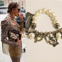 Min.order is $15 (mix order) 3023  women's vintage key pendant elastic Personalized jewelry bracelet  DZ1415