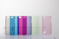 Free shipping**1000pcs/lot** High quality smooth surface crystal case for iphone 5 5g 7 colors available by DHL