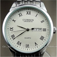 Curren fashion Double calendar Date Week stainless steel Mens Women Man's Casual precision watches Dropship,Brand Relogio