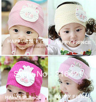 Fashion cute dot with crown small cat infant hairband baby headband for 3~18 monthes free shipping