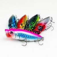 Free shipping,5pcs/lot, Fishing Lure Hard Plastic Popper 7.5g/6cm