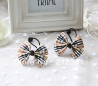 Free shipping handmade British style children hair clip baby ribbon bows