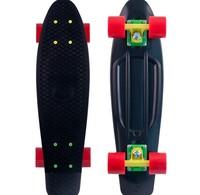 "Free shipping Mini Crusier Rasta Penny style Plastic Skateboard 22"" color wheels christmas gift skateboard"