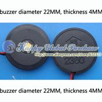 200pcs/lot Diameter 22MM, thick 4MM,electronic buzzer alarm 2360,no.4 free shipping