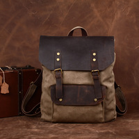 High quality new arrival canvas cowhide backpack , vintage fashion elegant mens bags,YG032,f