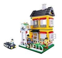 DIY  Enlighten Child 31052 educational toys WANGE Villa House toys building block sets,children toys free Shipping