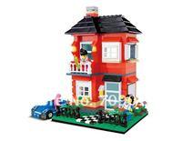 DIY  Enlighten Child 31054educational toys WANGE Villa House toys building block sets,children toys free Shipping