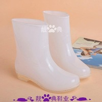Hot-selling knee-high white female boots water shoes overstrung fashion crystal rain boots