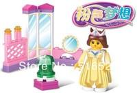 Sluban Pink Dream Series The Queen's Privat Chamber Building Block Sets 29pcs Enlighten Educational DIY Brick toy B0237