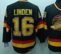 Ice Hockey Vancouver #16 Trevor Linden black CCM jerseys