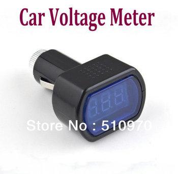 Digital LED Auto Car SYSTEM Voltmeter Gauge Voltage Meter + freeshipping