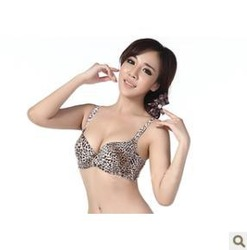 Free shipping Sexy leopard grain set auger summer deep V gathered large size sheet of underwear(China (Mainland))
