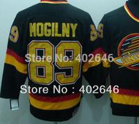 Wholesale ice Hockey Vancouver #89 Alexander Mogilny black CCM jerseys, can mix order