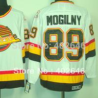 Wholesale ice Hockey canucks #89 Alexander Mogilny white CCM jerseys