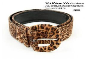 G051 fashion magazine recommended sexy leopard print velvet strap belt(China (Mainland))