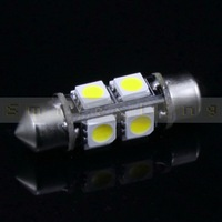 "10 pcs 36mm 1.5"" 8 SMD 5050 White/ Warm White Car LED Interior Dome Festoon Light Bulb 360 degree DC 12V  Free Shipping"