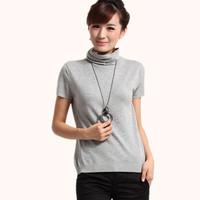 Autumn 2012 women's elegant fashion short-sleeve sweater pullover turtleneck basic shirt
