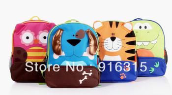 6pcs/lot 8 designs  Zoo Backpacks Cartoon Backpacks Kids School bags Cute Satchel Animal Bags Gift for Children