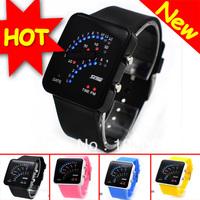 2012 HOT And New Cosplay Fan-shaped Style COOL Light Digital Sports Quartz RUBBER Wrist Watch Wristwatch